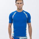 澳洲Sunseeker時尚男士衝浪短袖上衣-幾何天藍