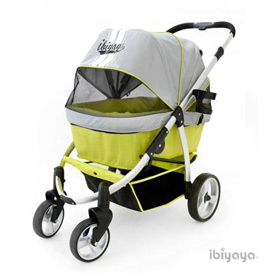 IBIYAYA依比呀呀 FS1202 IBBI頭等艙寵物推車-綠灰
