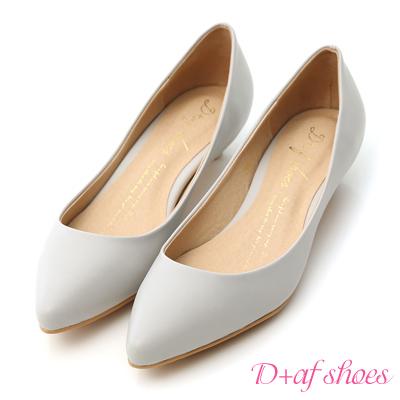 D-AF-百搭焦點-素面尖頭低跟鞋-灰