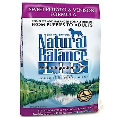 Natural Balance 低敏無穀地瓜鹿肉全犬配方 26磅
