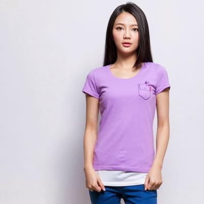 101原創 我的百寶袋T恤上衣-淡紫