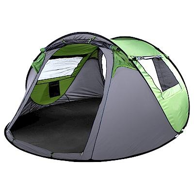IDOOGEN 一房兩廳4-5人全自動快速帳篷 速搭帳 秒開帳 帳篷 兩色任選