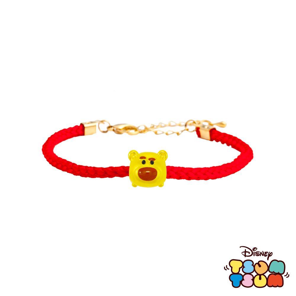 Disney迪士尼TSUM TSUM系列金飾 黃金編織手鍊-熊抱哥款