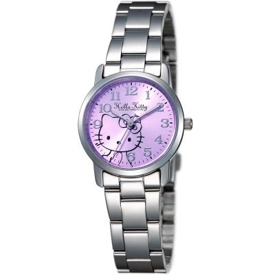 HELLO KITTY 凱蒂貓時尚簡約炫彩手錶-紫 /30mm