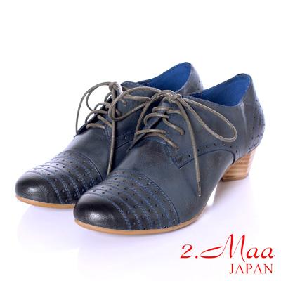2-Maa-英倫時尚牛津風格上等打臘羊皮個性綁帶螺