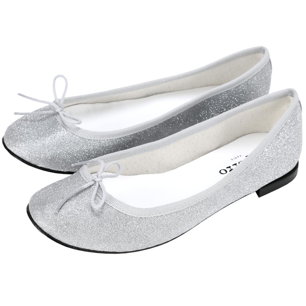 Repetto Cendrillon 銀蔥設計蝴蝶結芭蕾舞鞋