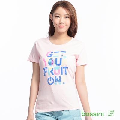 bossini女裝-印花短袖T恤75嫩粉