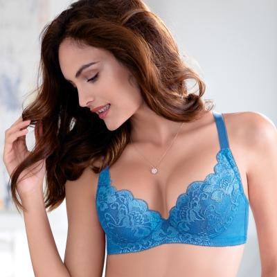 黛安芬-超值美選-俏美Bra-B-E罩杯-活力動藍