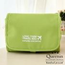 DF Queenin - 韓版可拆式多功能盥洗旅行收納包-綠色