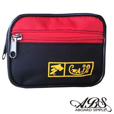 ABS愛貝斯 MIT輕量防潑水多功能腰包 防搶包(黑紅)711