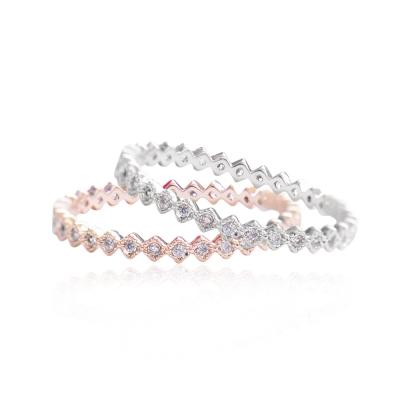 微醺 禮物 戒指 頂級鋯石 合金鍍層 菱形小鑽 戒指 兩色