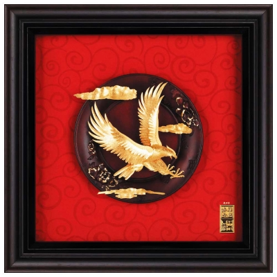 My Gifts-立體金箔畫-大展鴻圖(圓盤系列23x23cm)