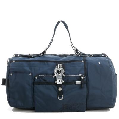 GG&L-OVERNIGHT手提斜背行李袋-深海藍