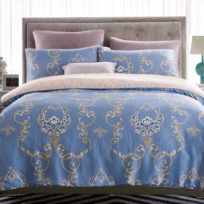 Saint Rose 繁花 雙人100%純天絲兩用被套床罩八件組