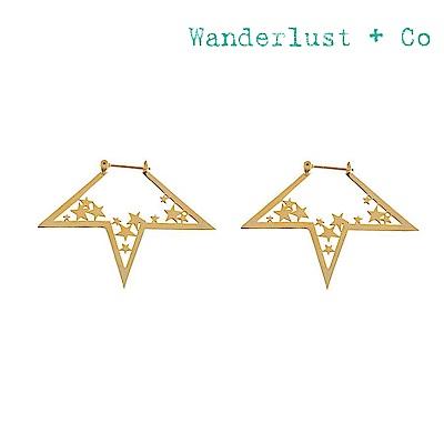 Wanderlust+Co 澳洲時尚品牌 閃耀不規則星星耳環