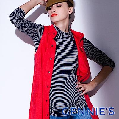 Gennies-010系列-百搭條紋彈性孕婦上衣(T3215)三色可選