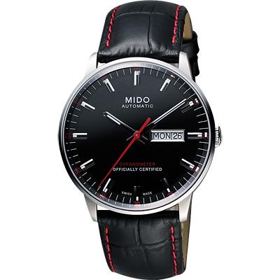 MIDO 美度 Commander II指揮官系列機械腕錶-黑/40mm