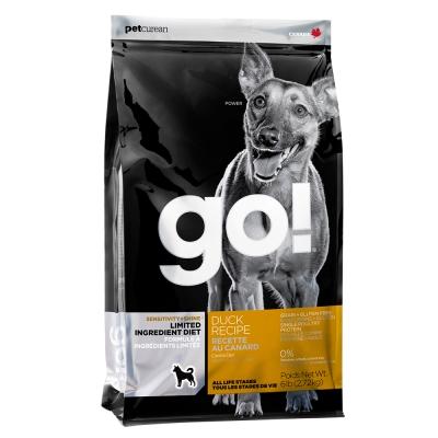 Go! 低致敏鴨肉無穀全犬配方 6磅兩件優惠組