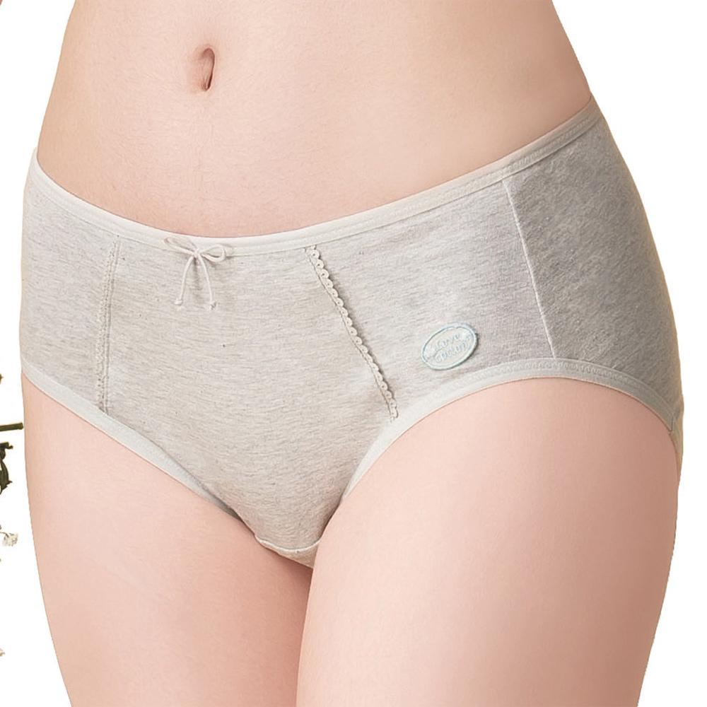 嬪婷 學生成長 環保有機棉 M-LL 日間生理內褲(花紗灰)