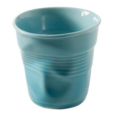 法國 REVOL FRO 藍色 陶瓷皺折杯  180 cc