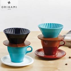 日本 ORIGAMI 摺紙咖啡陶瓷濃縮杯90ml(共3色)
