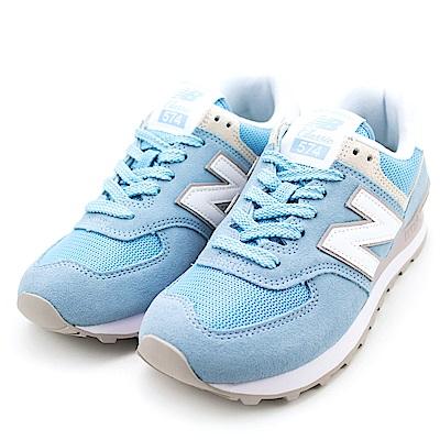 New Balance-女復古慢跑鞋WL574ESB-藍
