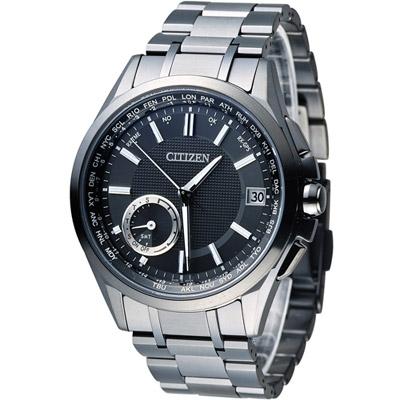 CITIZEN GPS 光動能鈦感光衛星計時腕錶(CC3015-57E)-黑/43mm