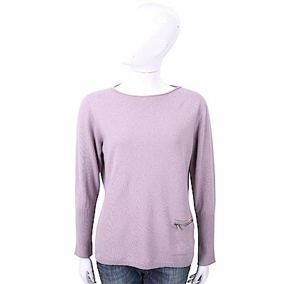 FABIANA FILIPPI 喀什米爾粉紫色捲邊細節針織羊毛衫