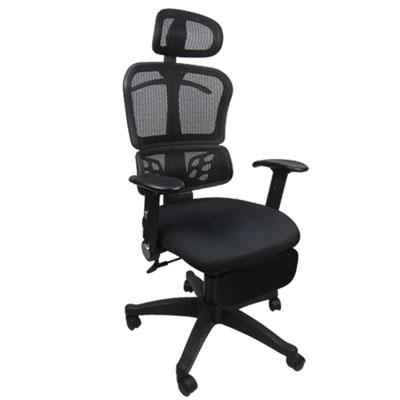 Design 時尚紳士網背置腳台/辦公椅/電腦椅