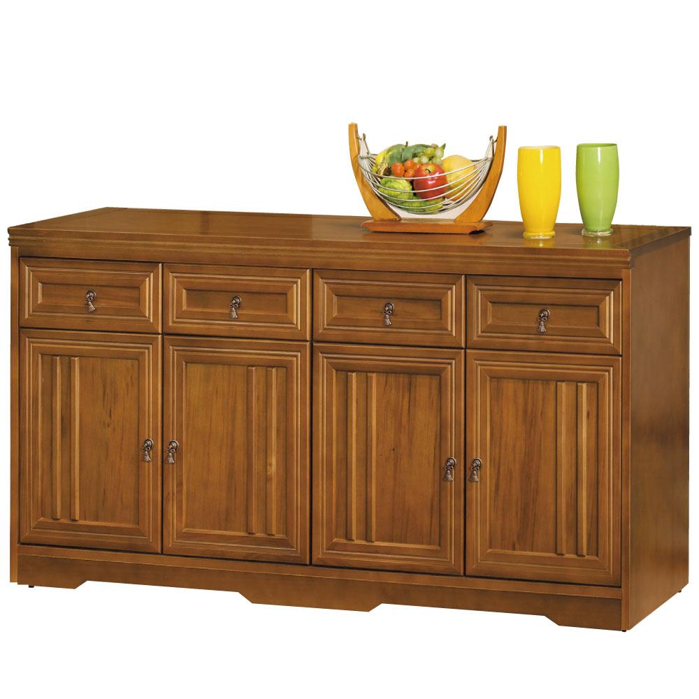 品家居楓之谷5.3尺實木餐櫃下座-159x42x123cm-免組