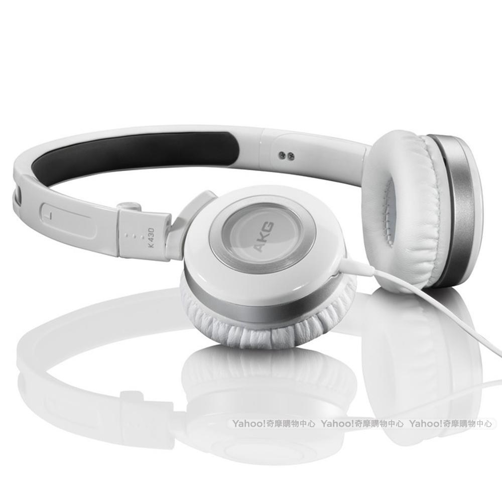 AKG K430 On-Ear Headphone 封閉式 摺疊耳機 白色版