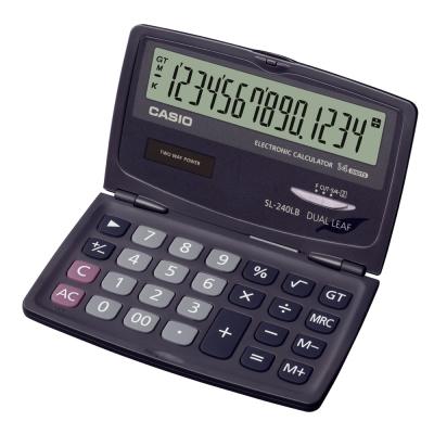 CASIO 卡西歐 (國家考試專用)14位數口袋摺疊輕巧型計算機SL-240LB