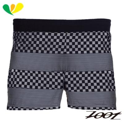 ZOOT 頂級極致冰涼感3吋路跑短褲(男) Z1704024(格紋黑)