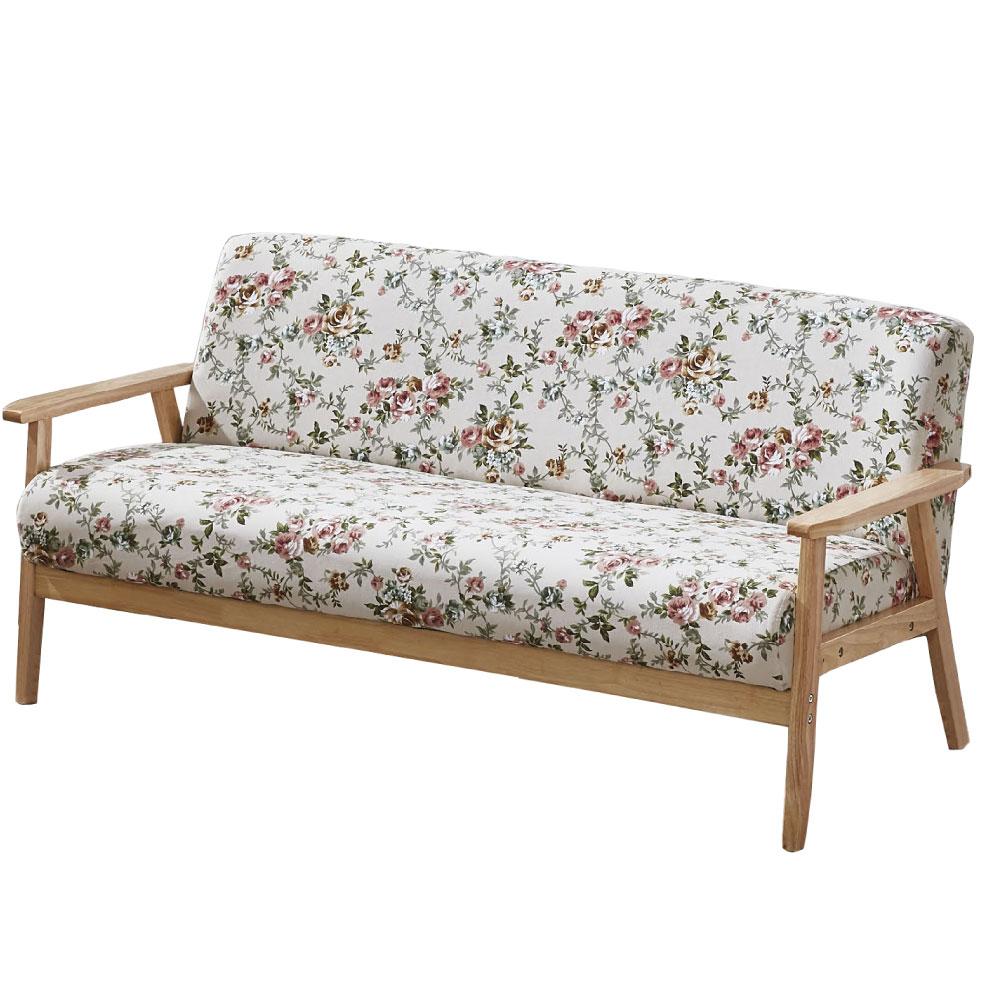 品家居 華莉亞麻布實木沙發三人座-155x65x71cm免組