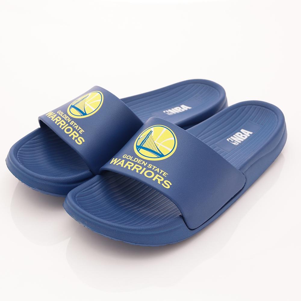 NBA美國職籃-金州勇士隊-超輕量拖鞋款-SE4793藍(親子段)