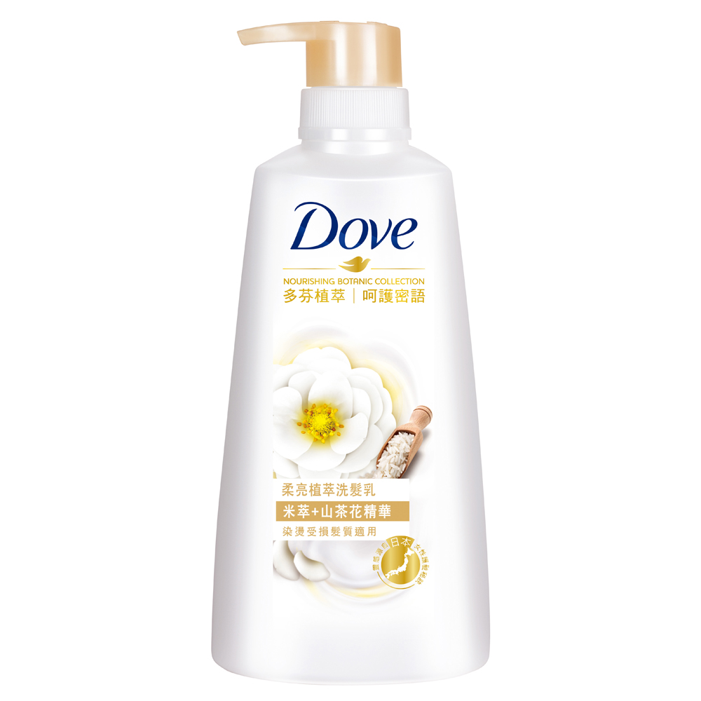 DOVE 多芬 柔亮植萃洗髮乳 米萃 500ml