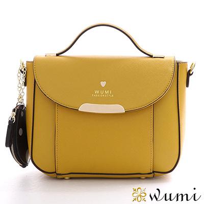 WuMi 無米 瑪莉珍十字紋兩用馬鞍包 暖藤黃