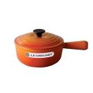 LE CREUSET 琺瑯鑄鐵單柄醬汁鍋 18cm (火焰橘)