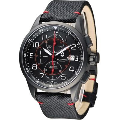 Victorinox維氏 Airboss 自動上鏈機械計時碼錶-黑/45mm