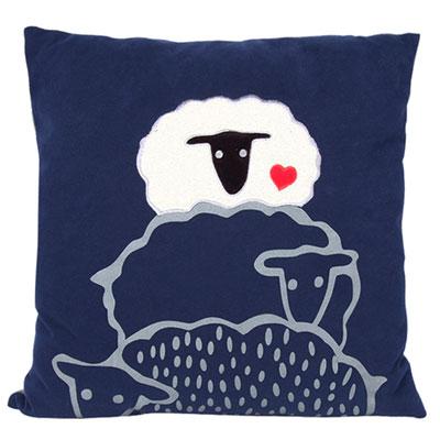 Yvonne Collection綿羊60x60cm方形抱枕-丈青