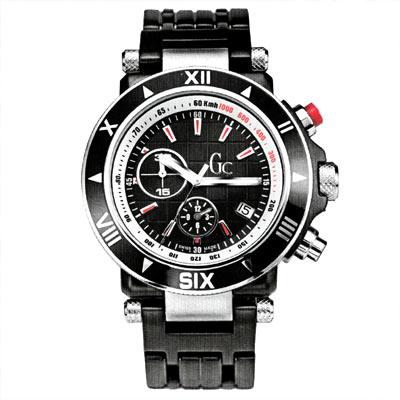 Gc 尊爵品味計時腕錶(黑色電鍍款)