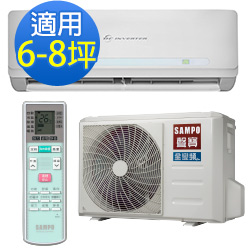 SAMPO聲寶6-8坪精品變頻冷暖冷氣 AM-QC41DC