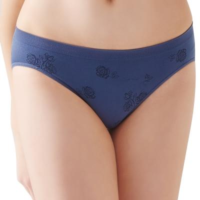 思薇爾 無痕美人系列素面低腰三角褲(藏藍色)