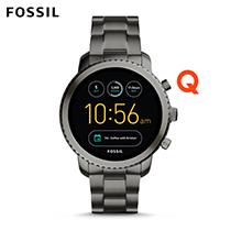 FOSSIL Q EXPLORIS 不鏽鋼觸控螢幕智慧錶