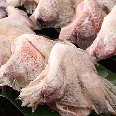 鮮選 急凍台灣鯛魚下巴 2包組(1000g±10%/7-10尾/包)