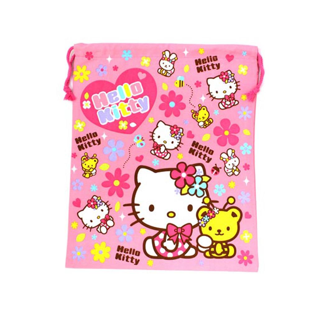 《Sanrio》HELLO KITTY縮口袋L(粉)