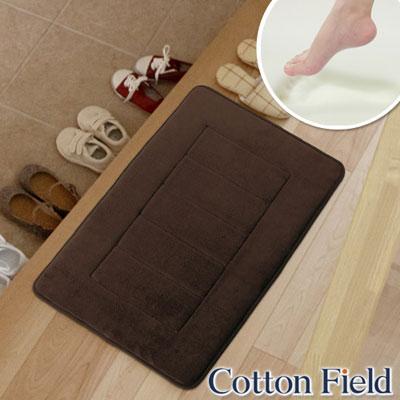 棉花田-CLOUD-舒壓記憶綿吸水防滑踏墊-可可色