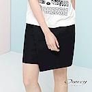 OUWEY歐薇 別針活片A字短褲裙(黑)