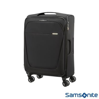 Samsonite新秀麗26吋B-Lite商務型大容量飛機輪可擴充布面TSA海關鎖行李箱黑