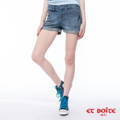 ETBOITE 箱子 BLUE WAY 三色彩扣丹寧短褲